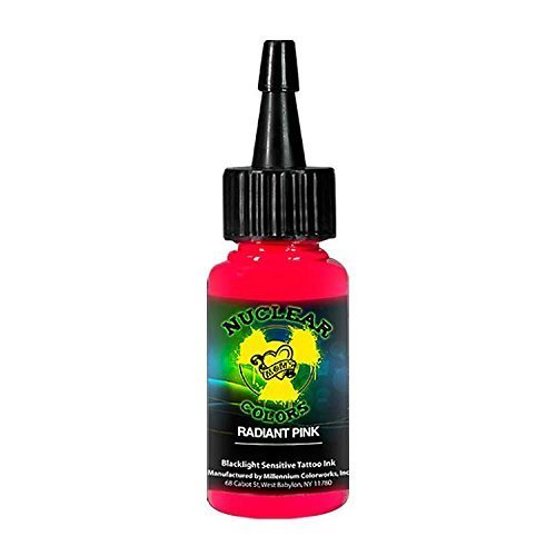 Millennium Mom's Nuclear Colors Radiant Pink UV Blacklight Tattoo Ink - 1 oz by Millennium Mom's -