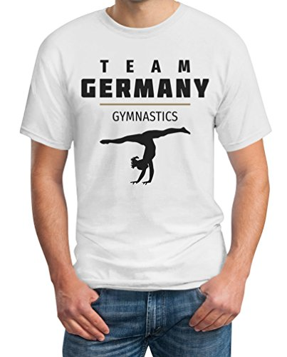 Deutschland Sportgymnastik - Team Germany Turnen T-Shirt Weiß