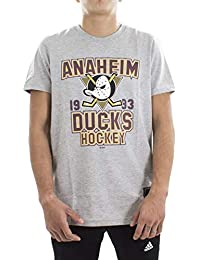 Majestic NHL Anaheim Ducks Graphic Uomo Grigio 5924f11e3527