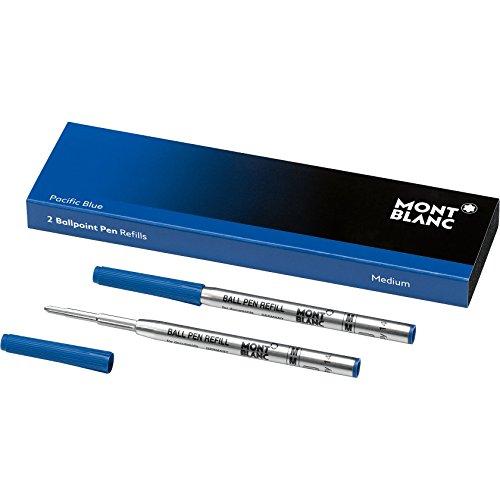 """Montblanc """"Pacific Blue"""" 116213 Kugelschreiber Ersatzminen M / 2 x Kugelschreibermine blau / Ballpen Refill"""