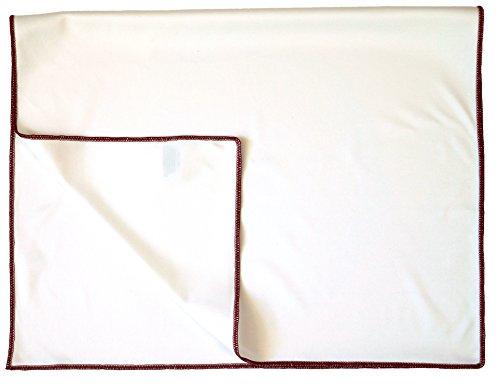 Sonty 2 Stück Glastuch, Glaspoliertuch aus Microfaser, 45 x 68 cm weiß (2)