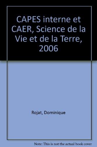 CAPES interne et CAER, Science de la Vie et de la Terre, 2006