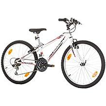 24Pulgadas TEMPO de la UE del juvenil Rueda de bicicleta Bike Cycling-Bicicleta para mujer niño-Bicicleta infantil de niña bicicleta mountain bike MTB Shimano 18marchas. Blanco