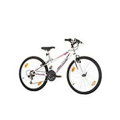 24pollici, cool Look, tempo, Giovani, Bicicletta Mountain Bike MTB, Hardtail, Shimano Bianco 18marce con illuminazione dopo StVO
