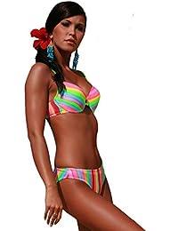2b7eb2b5a8166 Club Collection Push Up Padded Extra Uplift Bikini Set Italian Fabric Made  In Europe