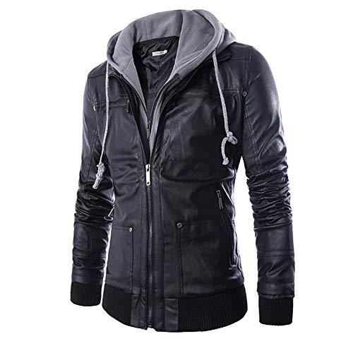 Giacca da moto in pelle da da giacca moto uomo ragazzo in vera pelle giacca in vera pelle da motociclista geteppt vestibilità stretta moderna per il tempo libero con colletto nero o marrone