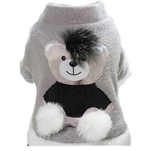 Kostüm Für Katzen Teddybär - Eyxia-Pet-Master Haustier Hund Katze Kostüm Funny Dog Pet Kleidung Anzug Teddybär Dressing Up Weihnachten Halloween Party Bekleidung Bekleidung (Color : GRAY, Size : M)