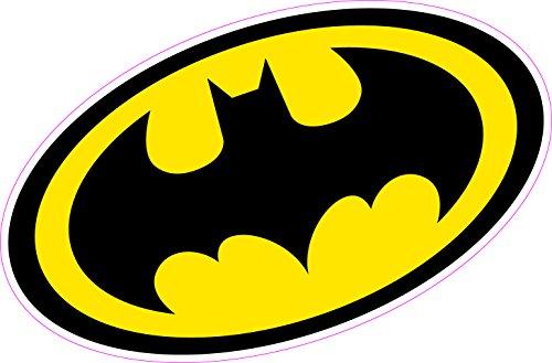 Aufkleber mit Batman-Logo/ Wappen, aus Vinyl, für Wand, Auto, Laptop, Superhelden-Comic (Batman-laptop-aufkleber)