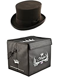 71ae5024a27 Major Wear Black Wool Felt Fashion Top Hat Satin Lined complete with Hat Box