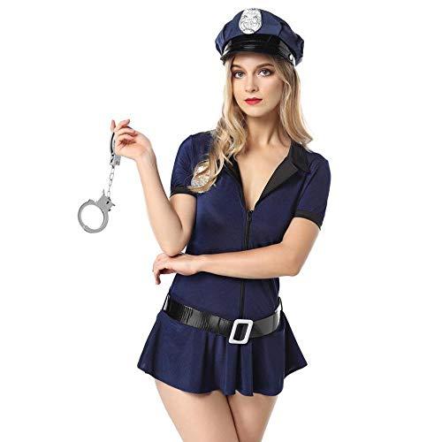 splay Halloween Polizei Kostüm Sexy Uniform Versuchung Weibliche Polizei Wear Stage Kostüm,Bild,M ()