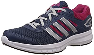 adidas Women's Galactus W Blue, Silver and Pink Mesh Running Shoes - 7 UK