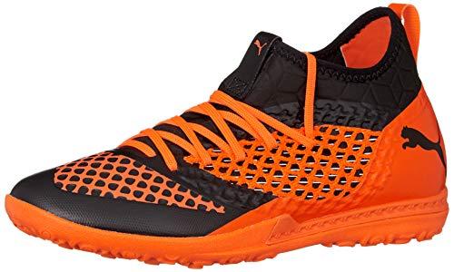 Puma Herren Future 2.3 Netfit TT Fußballschuhe, Schwarz Black-Shocking Orange 02, 42.5 EU