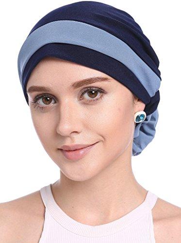 YI HENG MEI Frauen Elegante Strench Blüte Block Farbe Muslim Turban Chemo Krebs...