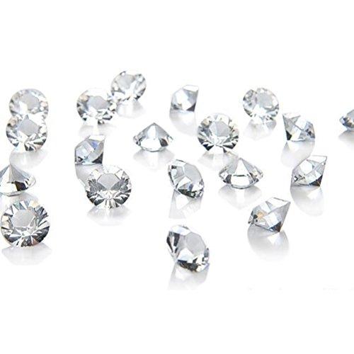 Deliawinterfel 1000 cristalli trasparenti 6.5mm da spargere sui tavoli- decorazioni matrimonio by