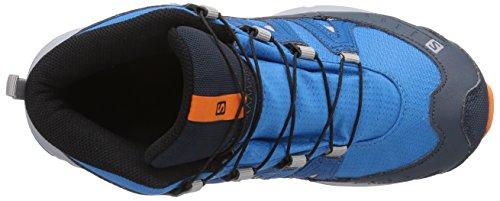 Salomon Trail CSWP Unisex-Kinder Trekking &Wanderstiefel Blau (Methyl Blue/Darkness Blue/Orange Fe)