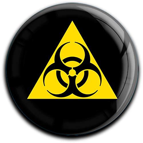 metALUm runder Acrylmagnet mit starkem Neodym - Magnet Biohazard #1301039