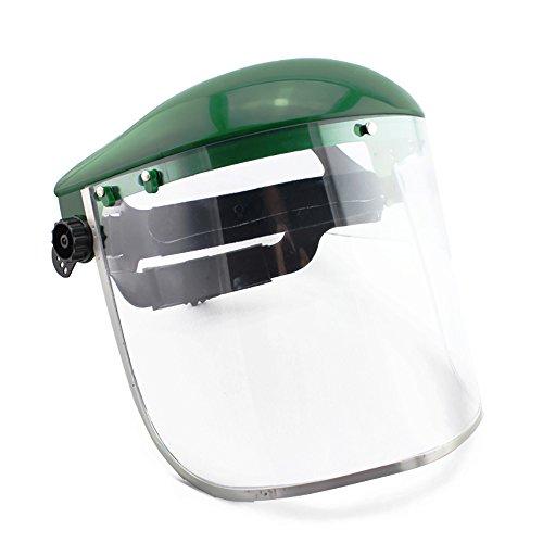 Zhi Jin verstellbar harten Face Shield Visier Gesicht Bildschirm Maske Schweißhelm Anti Nebel Liquid Splash Eye Schutz grün (Schweiß Visier Kopf)