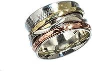 Anillos de plata de banda ancha para mujer,Kanika Jewelry Trove Womens Rings, Vintage Style 925 Solid Sterling
