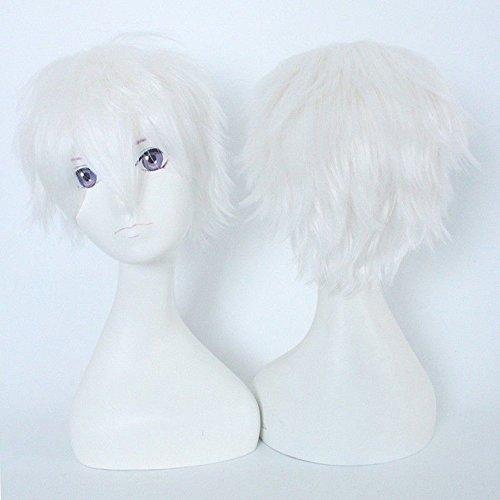 S-noilite® Unisex Kostüm Perücke Kurz Party Cosplay wig Kostueme Glatt Haar Perücken Wigs Damen Mann - Blond weiß