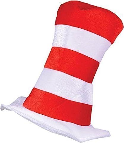 Kleid Kostüm Party Geschnürt Zubehör Dr Seuss Gestreiftes Top Katze Im Hut Rot/weiß - Rot/weiß,