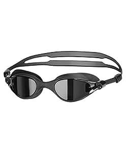 Speedo Unisex Adult V-Class Vue Mirror Goggles - Black/Smoke