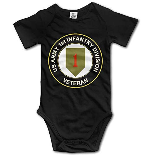 Doormat-bag Army 1st Infantry Division Subdued Veteran Baby Girls Clothing Short Sleeves Bodysuits for Unisex 18 Months