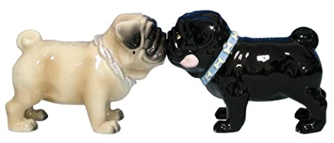 Kissing Pugs Salt and Pepper Shakers Set