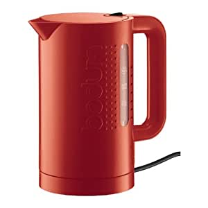 Bodum 11154-294 Bistro 1L Electric Cordless Water Kettle - Red