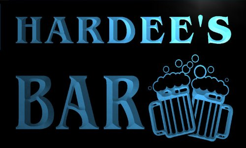 w005346-b-hardee-name-home-bar-pub-beer-mugs-cheers-neon-light-sign