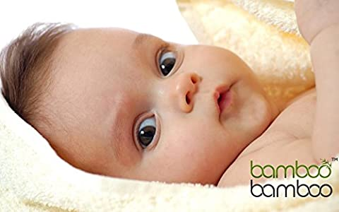 Organic Bamboo Hooded Baby Bath Towel Naturally Hypoallergenic Anti-Bacterial and