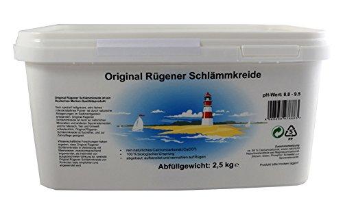 Original Rügener Schlämmkreide 2,5 Kg Calciumcarbonat/reines und allergenfreies Naturprodukt