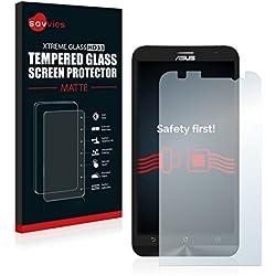 savvies Protection Verre Trempé Mat Compatible avec ASUS ZenFone 2 ZE551ML Protection Écran, Film Vitre - Dureté 9H, Anti-Reflets