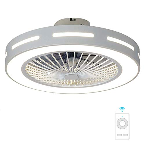 Fan ceiling light Lxn Invisibilità Soffitto Ventilatore Luce con Telecomando Moderno LED...