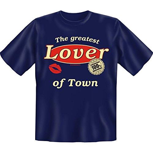 Geschenkidee Funshirt! Motiv: The greatest Lover of Town Farbe schwarz, #BEZUG!