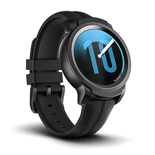 Ticwatch E2 Smartwatch Sistema operativo Wear by Google Fitness Smart Watches, 5 cajeros automáticos a Prueba de Agua y Listo para Nadar, Compatible con iPhone y Android - Shadow