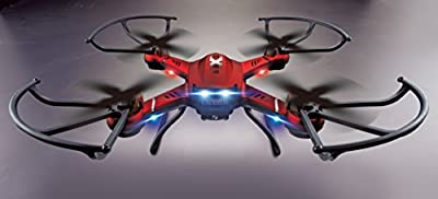 Headless Mode 6 Axis 4 Channel (4CH) 2.4 GHz Radio Controlled RC Stunt Quadcopter Drone - Ready To Fly (RTF), does 360 Flips, Spins and Stunts, Red or White, with or without Video Camera