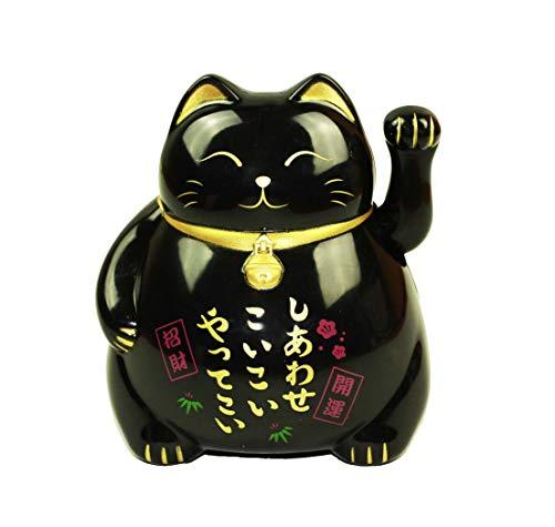 HAAC Gato de Gato de la Suerte Amuleto Color Negro 10cm