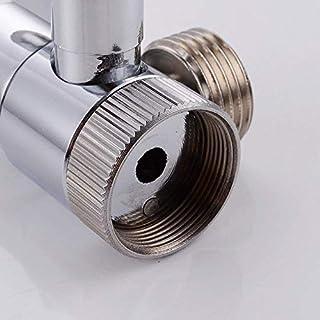 LEEQ Messing Umsteller für Küche oder Bad Waschbecken Armatur Ersatzteil M22 x M24, Chrom poliert, PV10