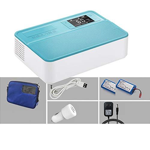 LXMBox Intelligenter Kleiner Kühlschrank, tragbare Insulin-Gefriertruhe, Aufbewahrungsbox für Interferon/Serum/Augentropfen bei 2-8 ° C, leistungsstarke Kühlung/HD-LED-Anzeige,B