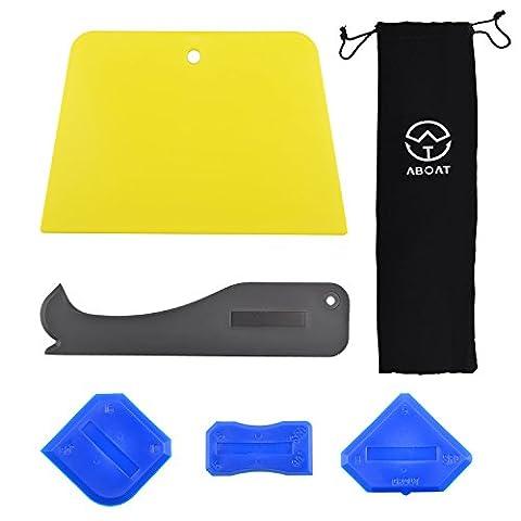 Aboat 5pièces à calfeutrer Outil Outil de mastic silicone kit d'outil pour salle de bain de cuisine Maison et cadres joints d'étanchéité, Noir et Bleu et jaune