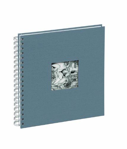 Pagna 12156-10 Passepartout-Spiralalbum 240 x 250 mm 50 Seiten, Leineneinband mit Passepartout Fotokarton weiß mit Pergamin, grau