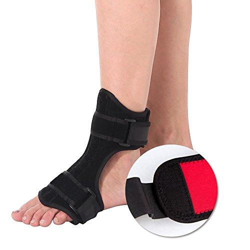 Plantarfasziitis Nachtschiene, HailiCare Orthese Für Plantarfasziitis Drop Fuß-Orthese Unterstützung Zum Schmerzlinderung - Orthopädische Orthese für verstellbaren Fuß für linken und rechten Fuß -