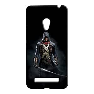 100 Degree Celsius Back Cover for Asus Zenfone 5 (Man With Sward Black)