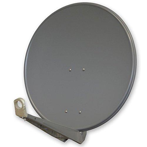 PremiumX DELUXE80 Satellitenantenne 80 cm Aluminium in Anthrazit Offset Antenne HDTV 3D 4K