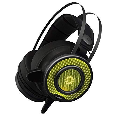 I-CHOOSE LIMITED GameMax G200 Lärm Abbrechen Wired Pro Gaming-Kopfhörer & Mikrofon/Stereo LED Hintergrundbeleuchtete Kopfhörer für PC, Laptop, Telefon 902 Handy