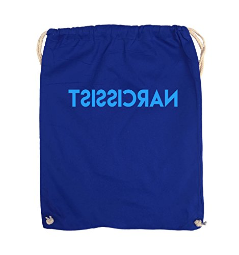 Comedy Bags - NARCISSIST - GESPIEGELT - Turnbeutel - 37x46cm - Farbe: Schwarz / Pink Royalblau / Blau
