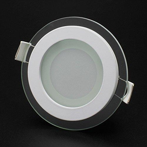 Preisvergleich Produktbild BAODE 6 / 12 / 18W LED Panel Leuchte Glas Dimmbar Rund Deckenlampe Deckenleuchte Einbaustrahler(PANEL Licht BAODE 6W / Dimmbar;Warmweiß)