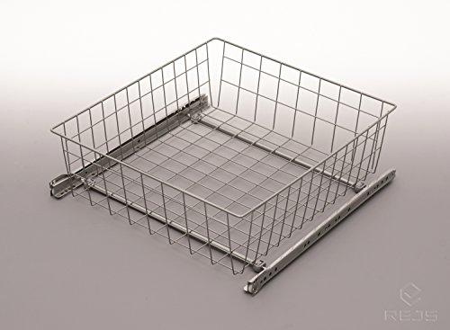 Griff Schubladen Schrank, md-cestino aus Draht, Zubehör-Montage, Breite 600mm, C 200mm hoch, Farbe: weiß (Pull-out-schubladen-schränke)