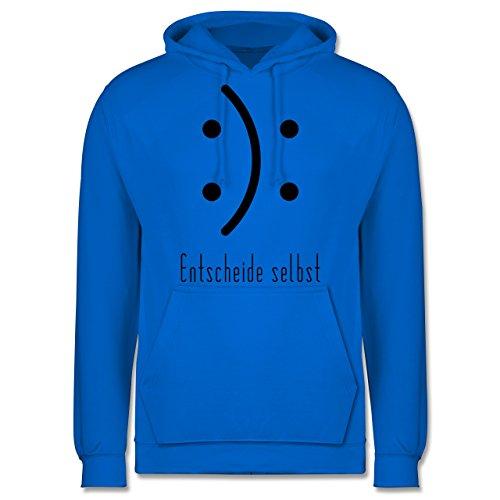 Symbole - Entscheide selbst Smile - Männer Premium Kapuzenpullover / Hoodie Himmelblau
