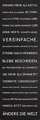 , Türposter Riskiere mehr, in deutscher Sprache